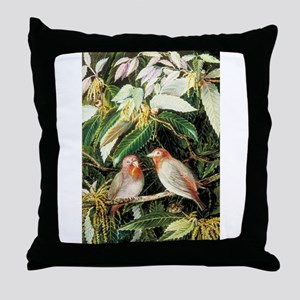 A Himalayan Oak and Birds Throw Pillow