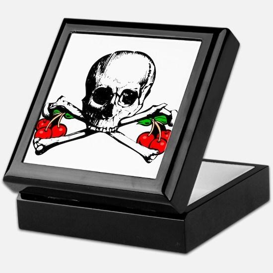 Rockabilly Cherries, Skull & Crossbones Tile Box