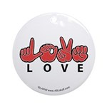 Captioned LOVE Ornament (Round)