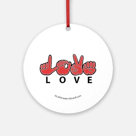Captioned LOVE Ornament (Round)