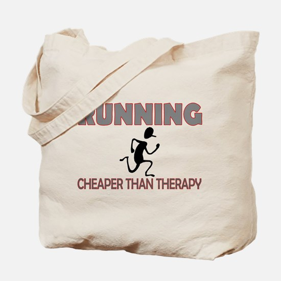 Running Cheaper Than Therapy Tote Bag