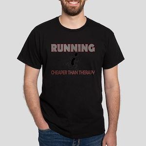 Running Cheaper Than Therapy Dark T-Shirt