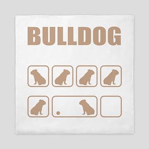 Stubborn Bulldog Tricks design Queen Duvet