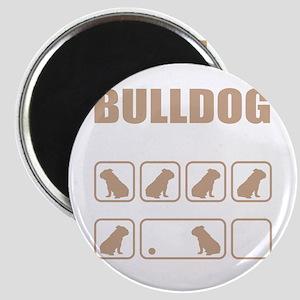 Stubborn Bulldog Tricks design Magnets