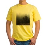 Misty Trees Yellow T-Shirt
