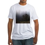 Misty Trees Fitted T-Shirt