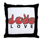 Captioned LOVE Throw Pillow