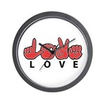 Captioned LOVE Wall Clock