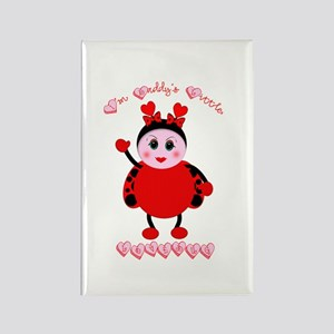 Daddy's Lovebug Rectangle Magnet
