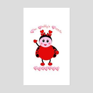 Daddy's Lovebug Rectangle Sticker