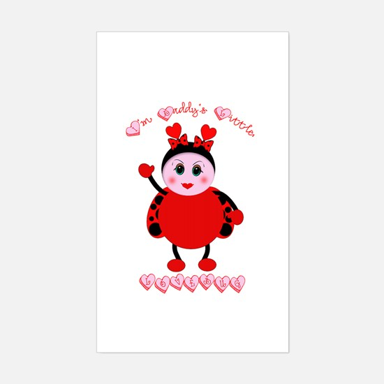 Daddy's Lovebug Rectangle Decal