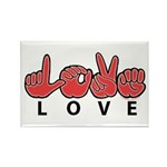 Captioned LOVE Rectangle Magnet