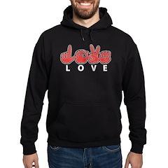 Captioned LOVE Hoodie (dark)