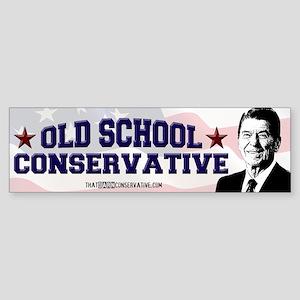 Old School Conservative Bumper Sticker