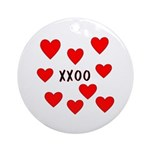 Hugs and Kisses Ornament (Round)