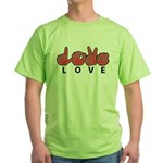 Captioned LOVE Green T-Shirt