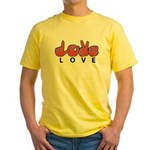 Captioned LOVE Yellow T-Shirt