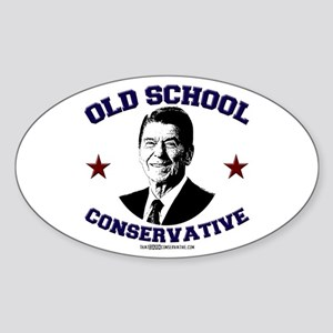 Old School Conservative Oval Sticker