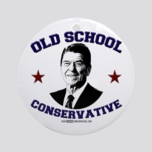 Old School Conservative Ornament (Round)