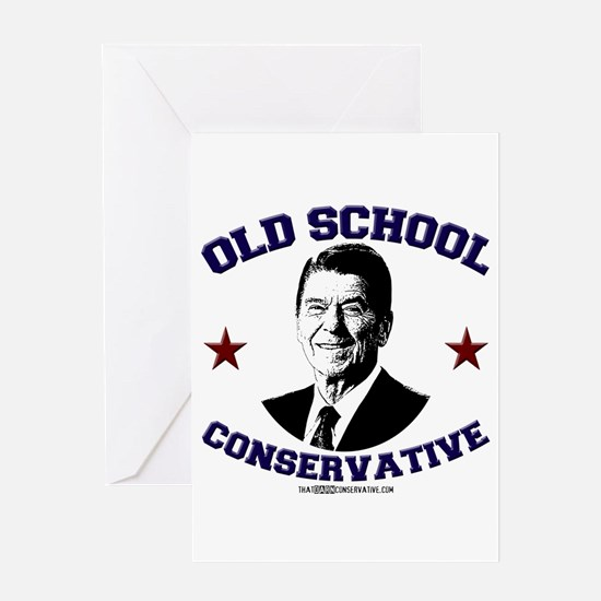 Old School Conservative Greeting Card