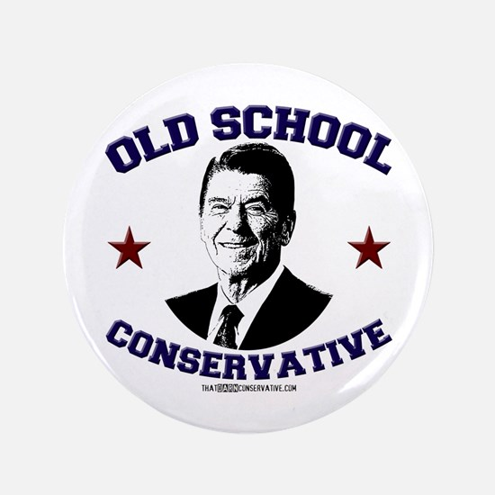 """Old School Conservative 3.5"""" Button"""