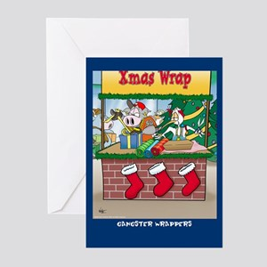 Gangster Wrappers ( Xmas Greeting cards 10 Pk)
