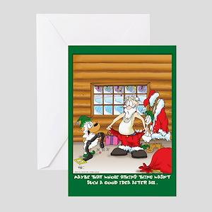 Atkins Santa ( Xmas Greeting Cards 6 pak)