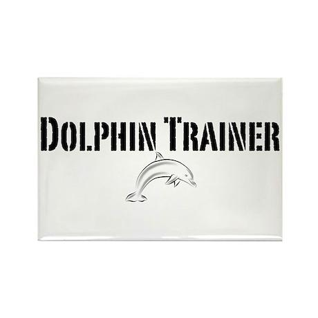 Dolphin Trainer Light Rectangle Magnet