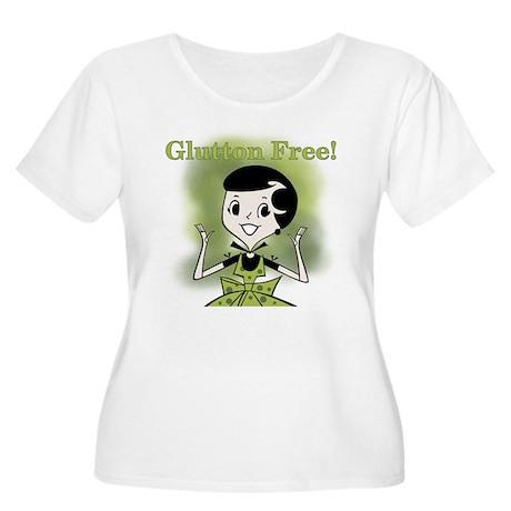 Glutton Free Humor Women's Plus Size Scoop Neck T-