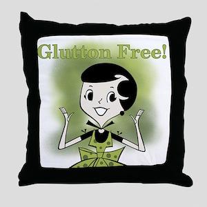 Glutton Free Humor Throw Pillow