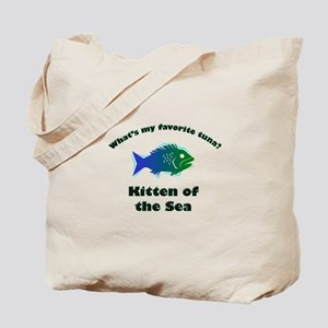 Kitten of the sea Tote Bag