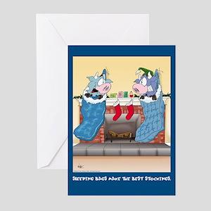Sleeping Bags (Xmas Cards Greeting Cards 10 Pk)