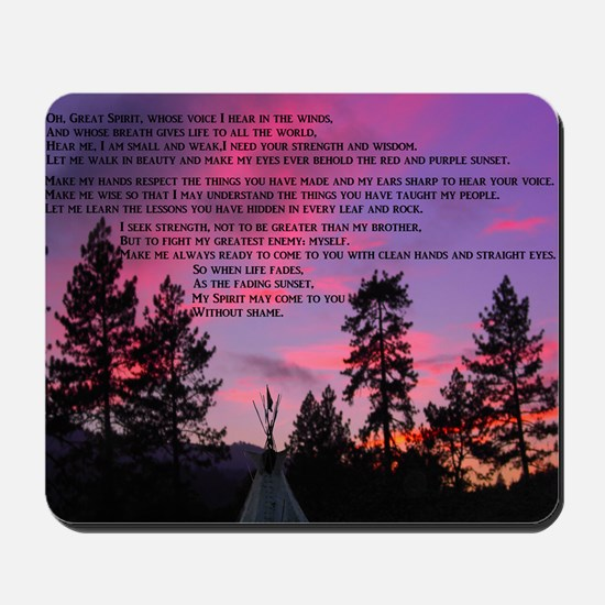 Lakota Great Spirit Prayer Mousepad