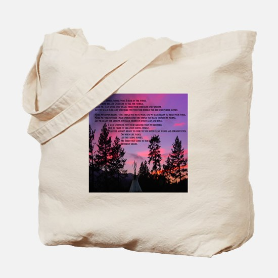 Lakota Great Spirit Prayer Tote Bag