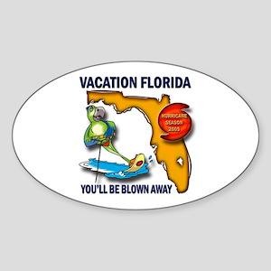 #3 Hurricane Wilma Oval Sticker