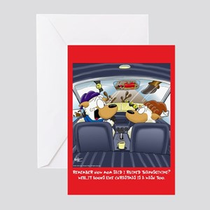 Christmas is a Wash (Xmas Cards Greeting Cards 6 P