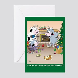 Not Slippers? (Xmas Cards Greeting Cards 10 Pk)