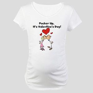 Pucker Up Valentine Maternity T-Shirt