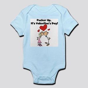 Pucker Up Valentine Infant Bodysuit