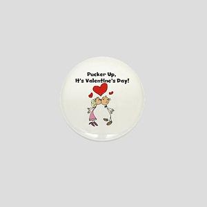 Pucker Up Valentine Mini Button
