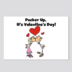 Pucker Up Valentine Postcards (Package of 8)