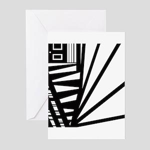 Op-Art Room #1 Falling Items Greeting Cards (Packa
