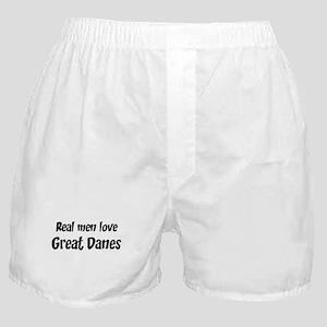 Men have Great Danes Boxer Shorts