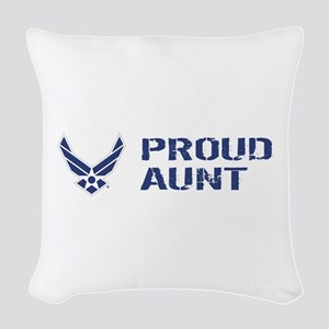USAF: Proud Aunt Woven Throw Pillow