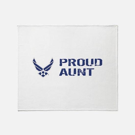 USAF: Proud Aunt Throw Blanket