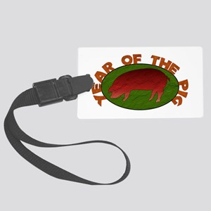 Year Of The Pig Large Luggage Tag
