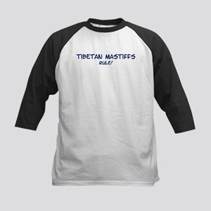 Tibetan Mastiffs Rule Kids Baseball Jersey