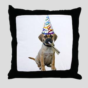 Puggle Party Throw Pillow