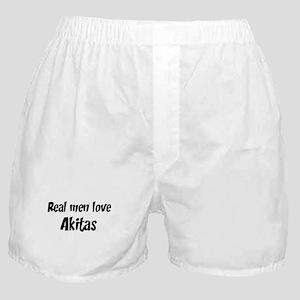 Men have Akitas Boxer Shorts