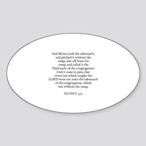 EXODUS 33:7 Oval Sticker